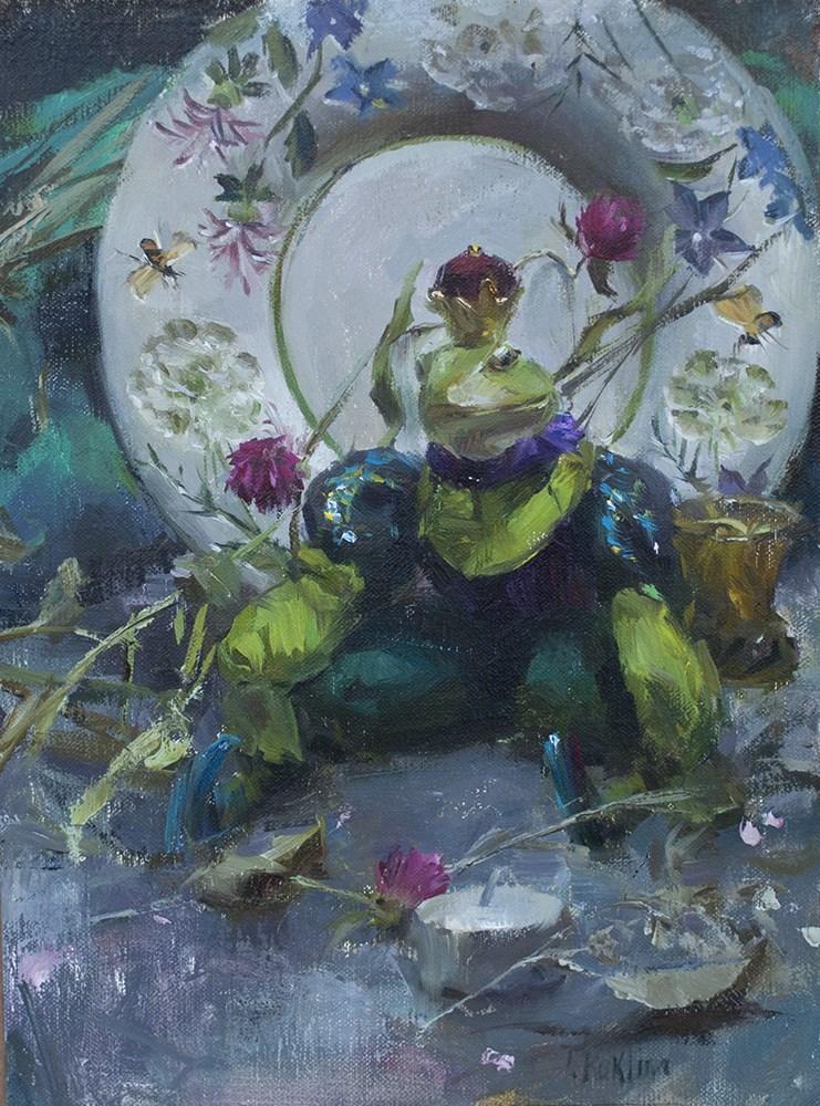 """Frog prince"" original fine art by Taisia Kuklina"