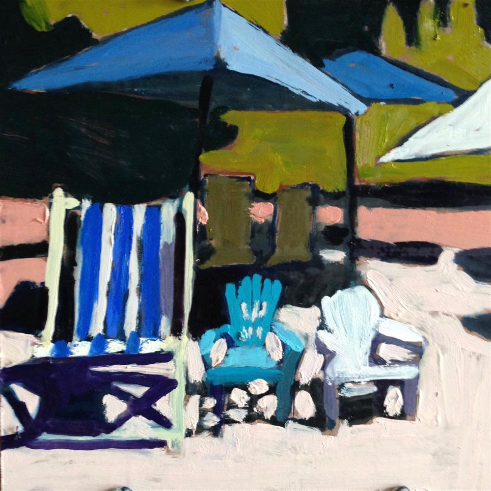 """Pull Up A Chair"" original fine art by Pamela Hoffmeister"