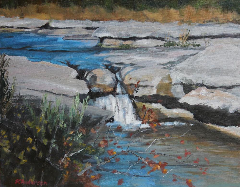 """Limestone falls"" original fine art by Susan Andersen"