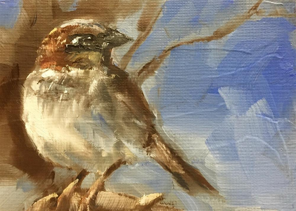 """Sparrow"" original fine art by Gary Bruton"