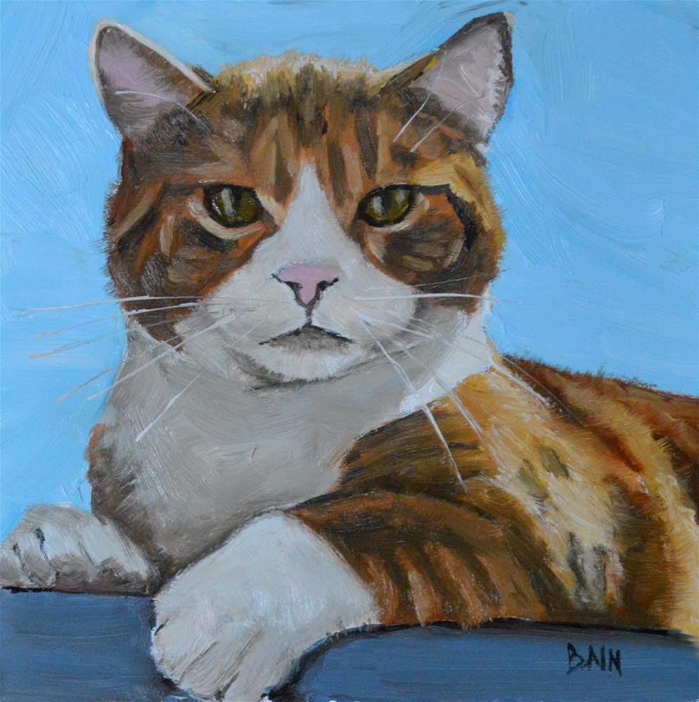 """""""Shadow Cat"""" original fine art by Peter Bain"""