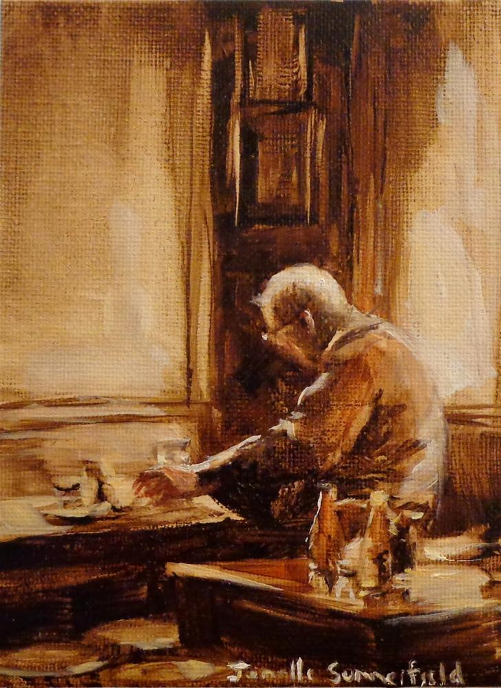 """Lunch at the Pub - Study"" original fine art by Jonelle Summerfield"
