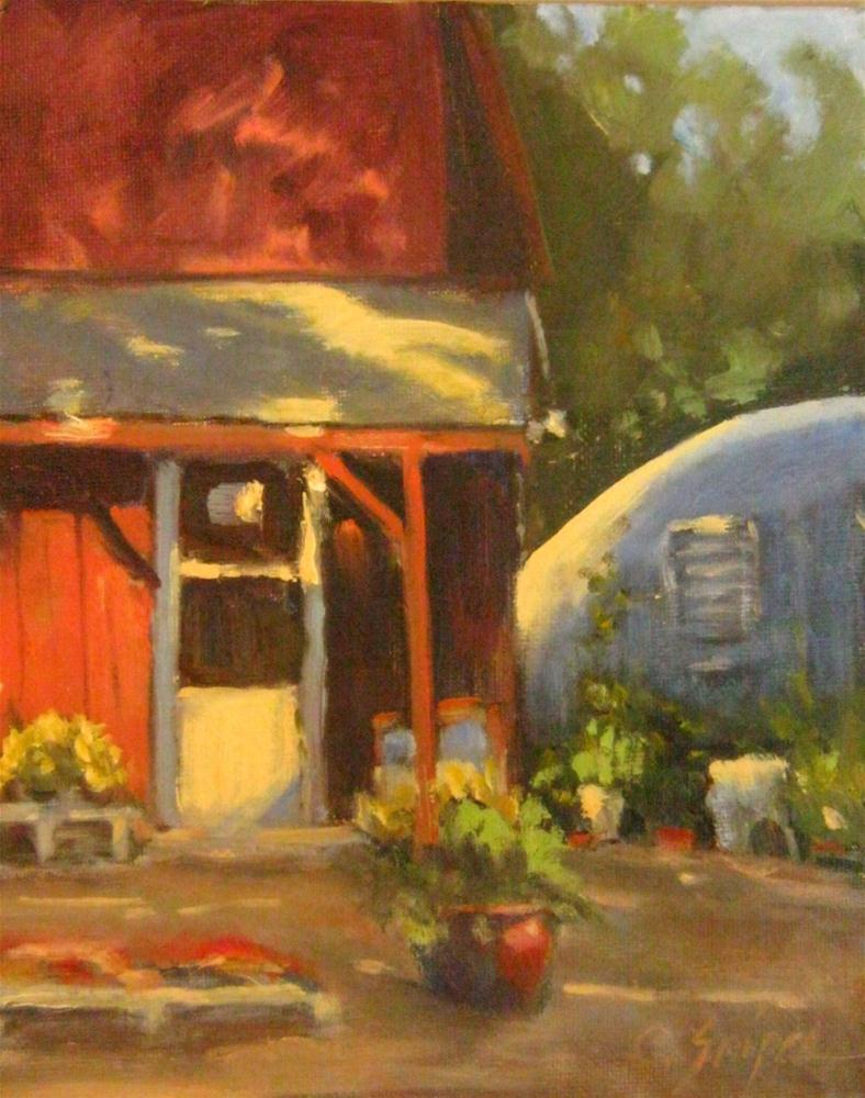 """Plant Nursery and Greenhouse"" original fine art by Connie Snipes"