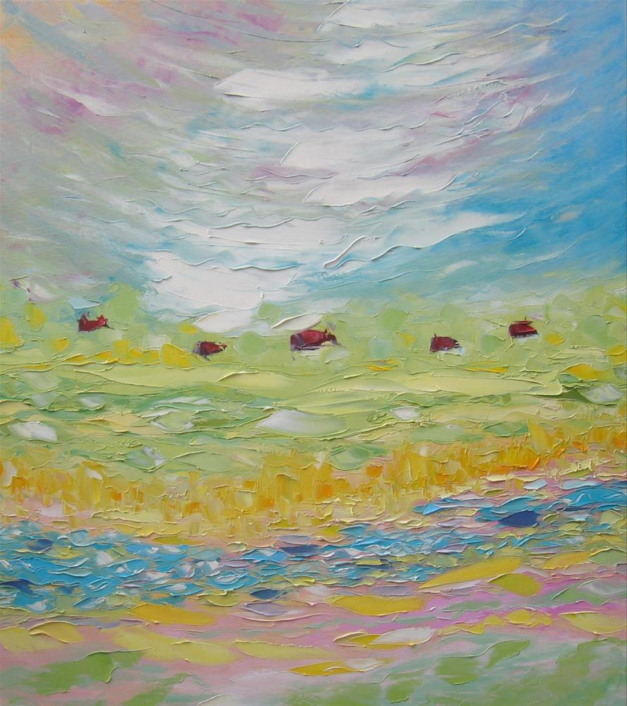 """Rustic spring"" original fine art by Elena Lunetskaya"