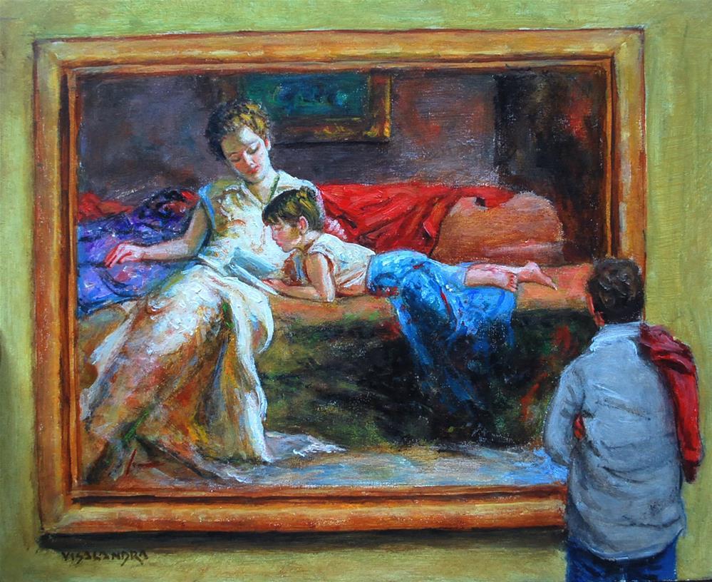 """museun visitor9"" original fine art by vishalandra dakur"