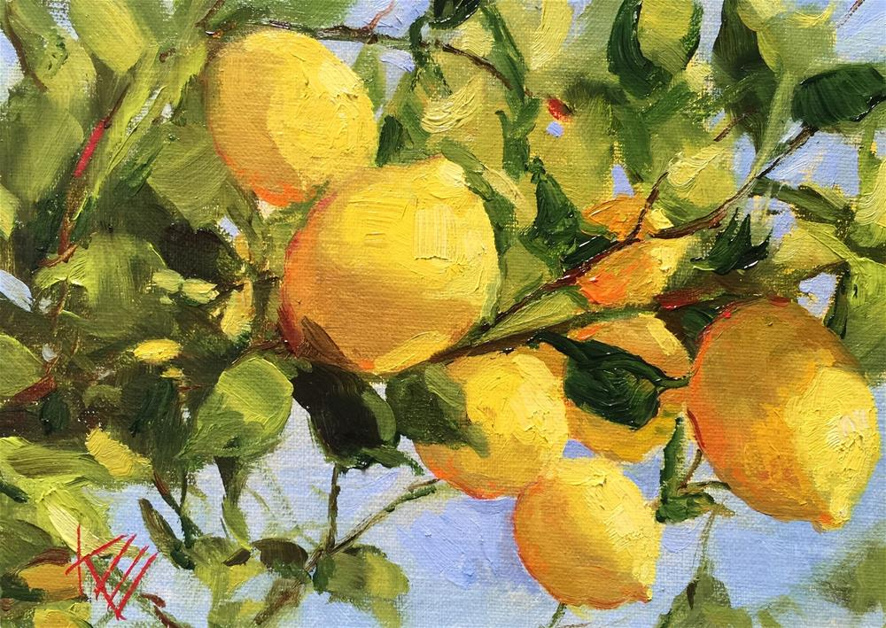 """Lemon Tree"" original fine art by Krista Eaton"