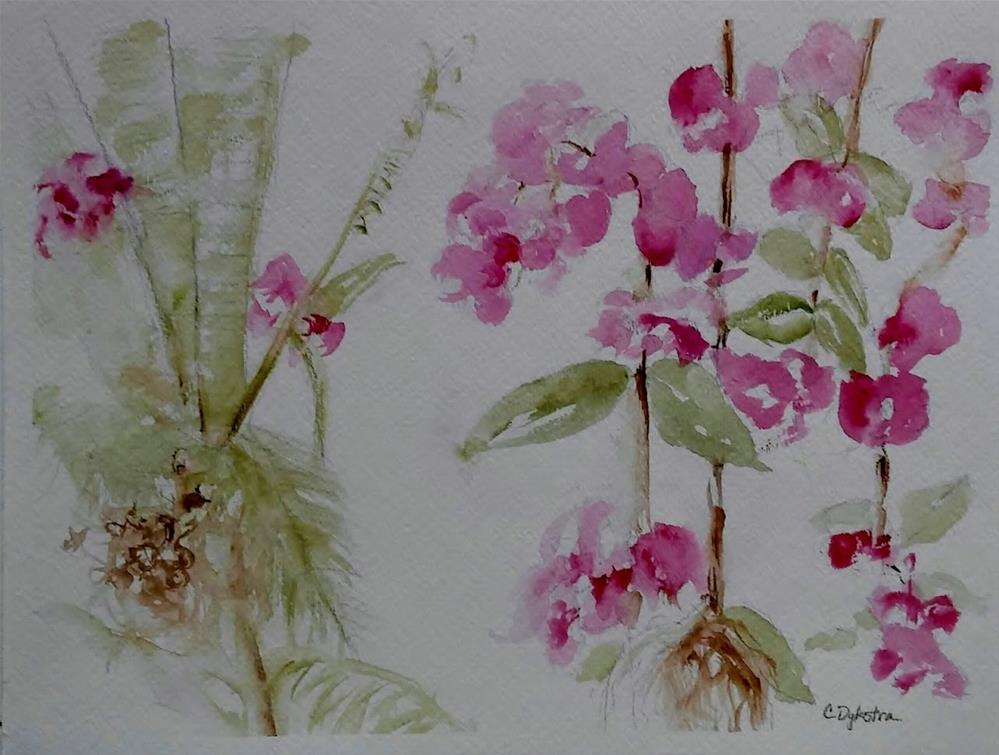 """Light and Loose Orchids"" original fine art by Cathy Dykstra"