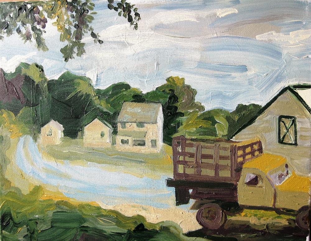 """""""Tractor"""" original fine art by Priscilla Bohlen"""