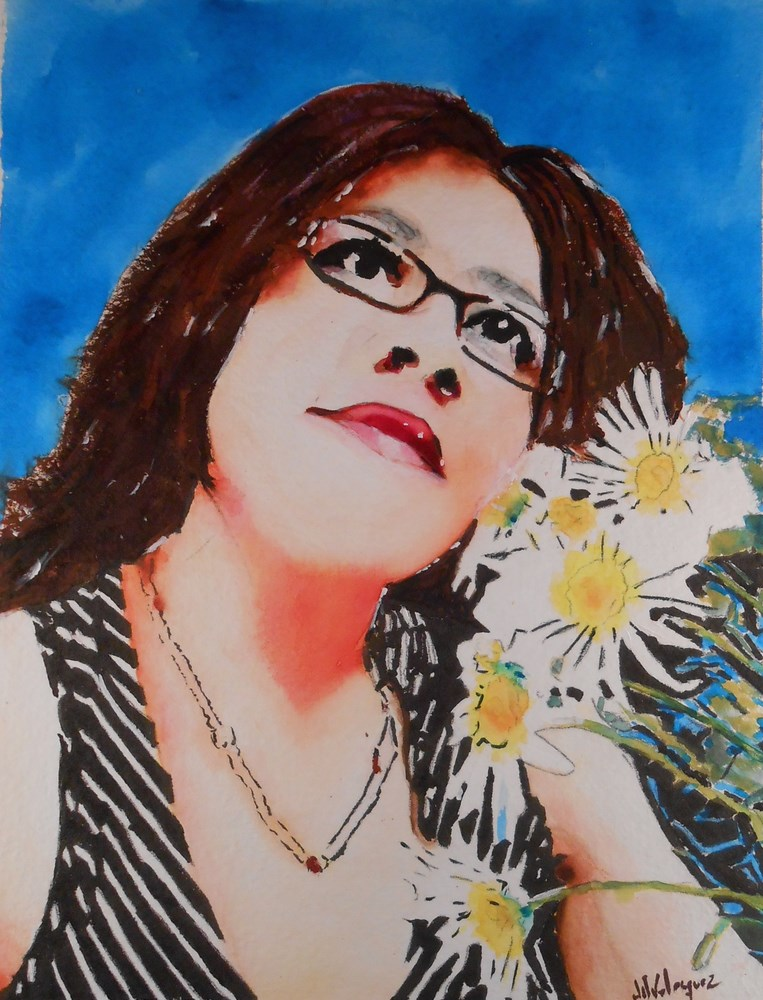 """My Queen"" original fine art by Juan Velasquez"