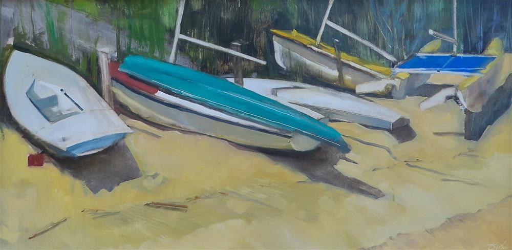 """Beached Till The Weekend"" original fine art by Beth Bathe"