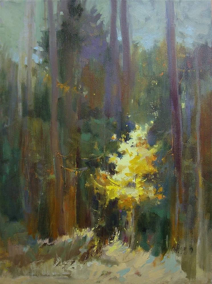 """Golden - fall color, how time flies!"" original fine art by Mary Maxam"