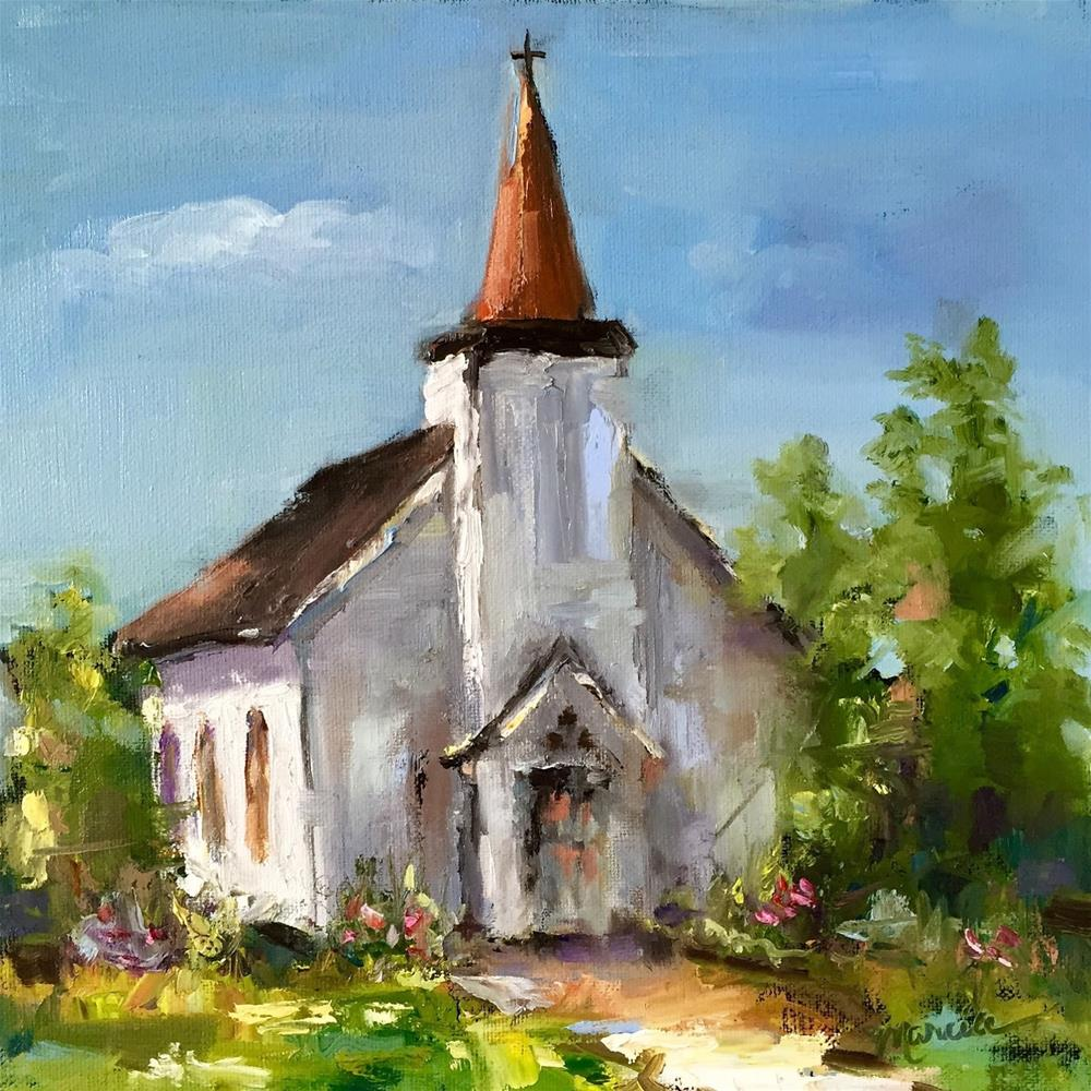 """Take Me to Church"" original fine art by Marcia Hodges"
