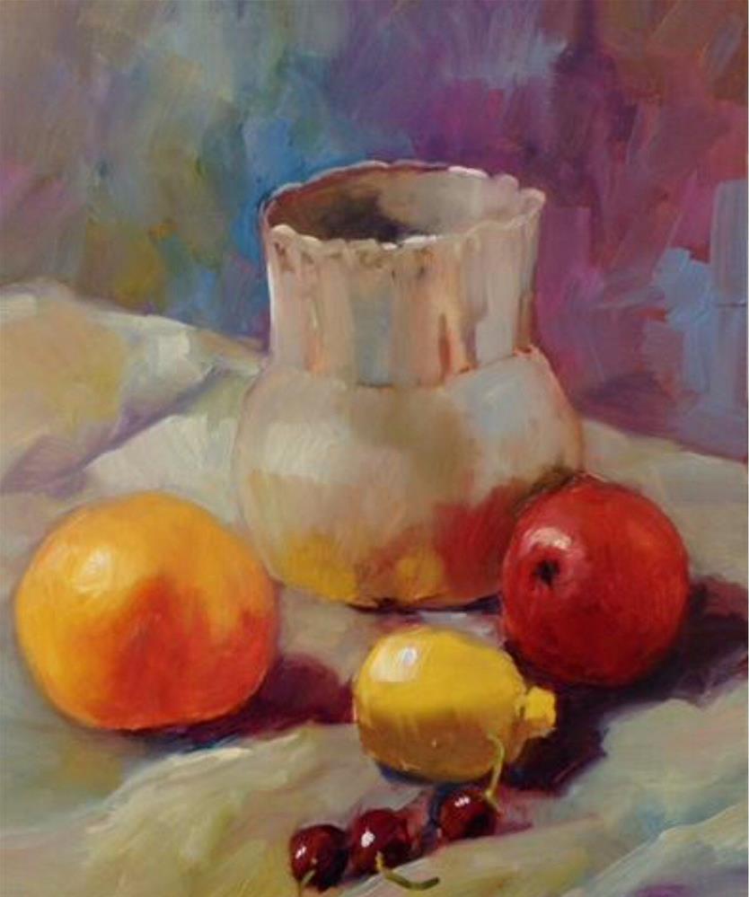 """Fruitful"" original fine art by Libby Anderson"