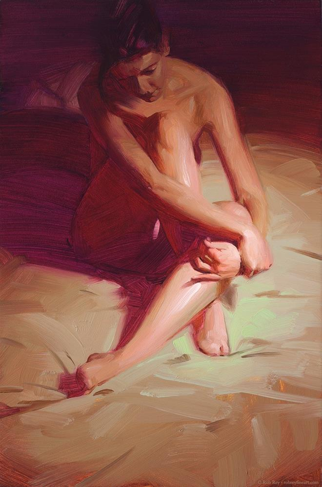 """Magenta Nude"" original fine art by Rob  Rey"