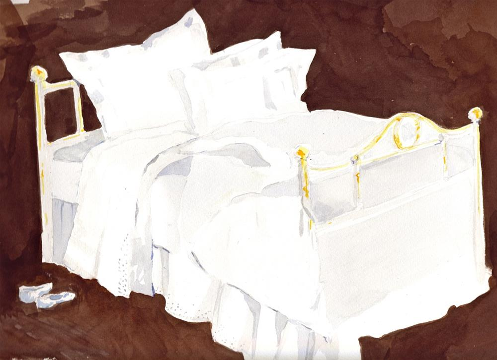 """Brass Bed"" original fine art by Judith Freeman Clark"