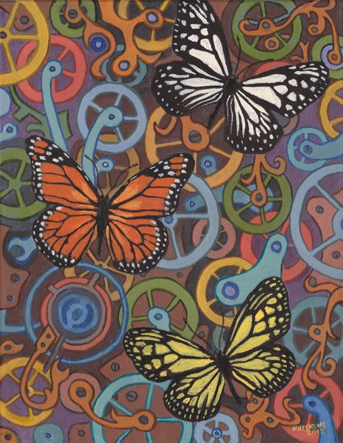 """Clockwork Butterflies No. 7"" original fine art by Randal Huiskens"