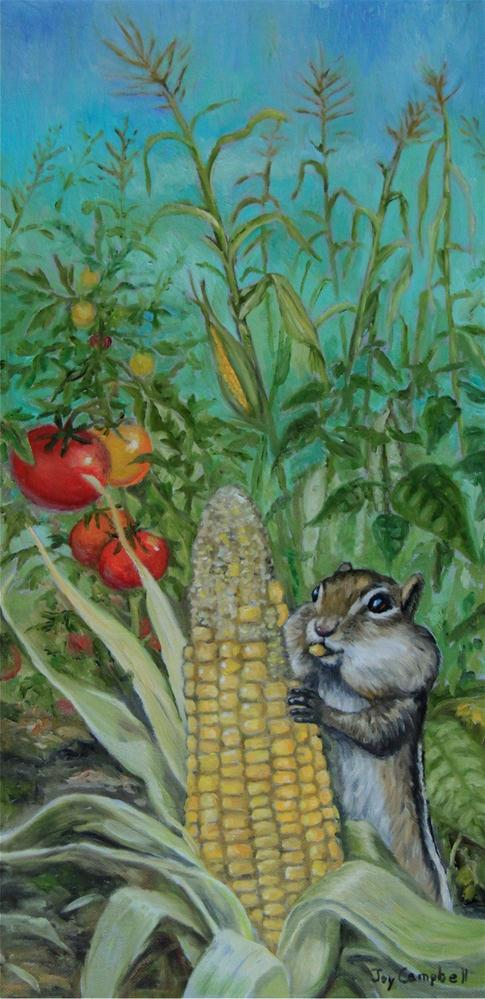 """Happy Garden-Time"" original fine art by Joy Campbell"