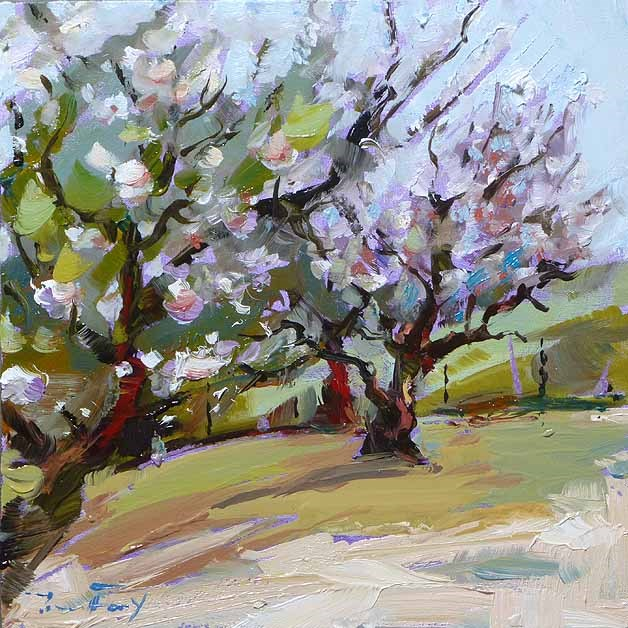 """apple trees"" original fine art by Jurij Frey"