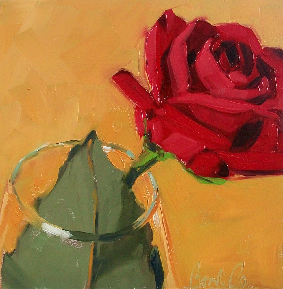 """red rose"" original fine art by Brandi Bowman"