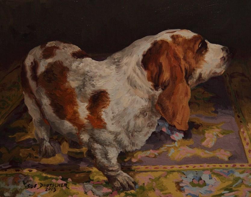 """""""Basset Hound"""" original fine art by Sue Deutscher"""