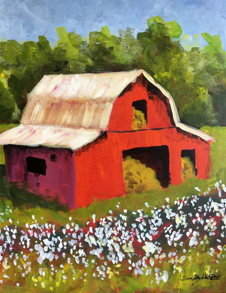 """High Cotton Class Demo 1"" original fine art by Susan Elizabeth Jones"