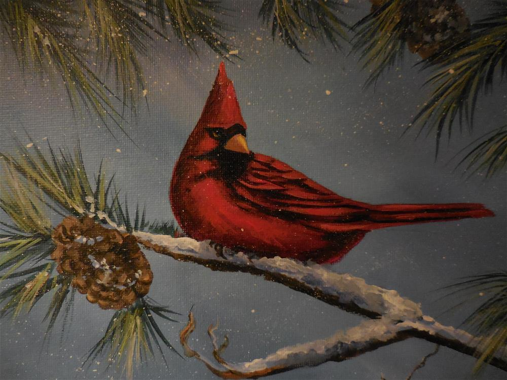 """The Cardinal"" original fine art by Terri Nicholson"