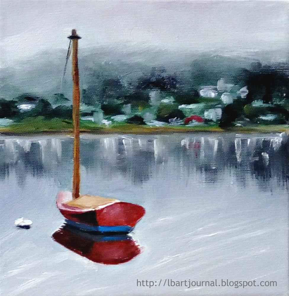"""The Red Boat"" original fine art by Laura B."