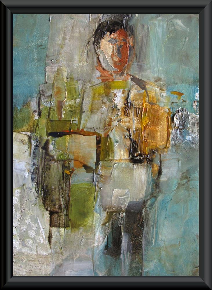 """RENAISSANCE MAN - ABSTRACT Figure Expressionism"" original fine art by Colette Davis"