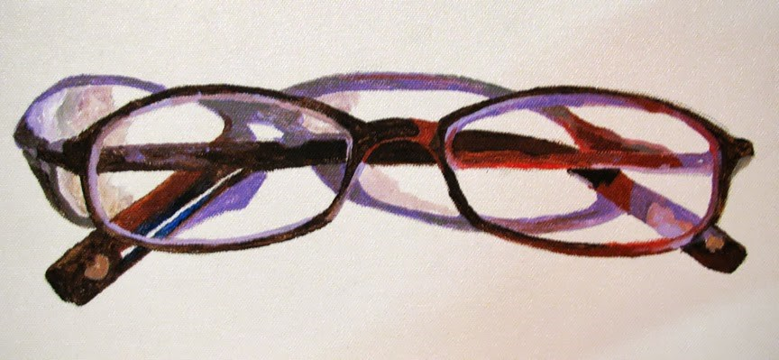 """Glasses Closed"" original fine art by Nan Johnson"