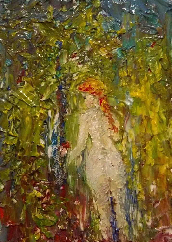 """Shy Dryad"" original fine art by S. Lynne Price"