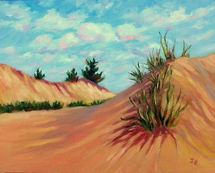 """Sunny Day on Michigan Dunes"" original fine art by Irina Beskina"