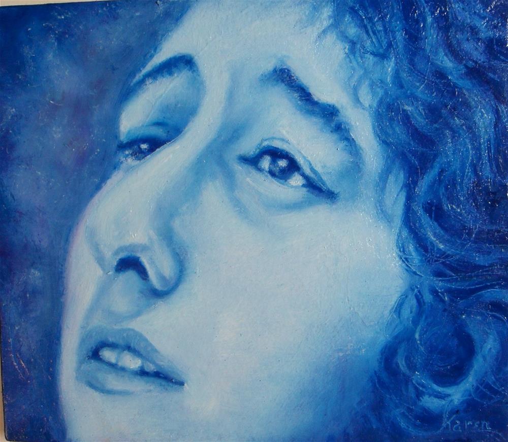 """Tangled Up in Blue"" original fine art by Karen Roncari"