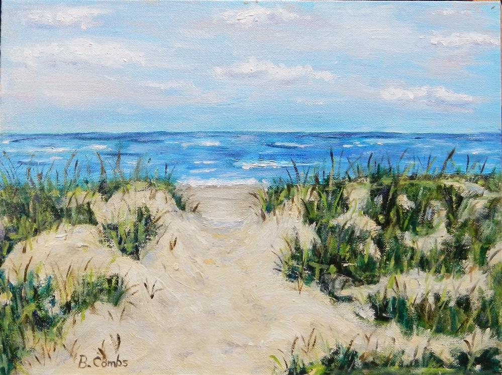 """Beach House View"" original fine art by Bebe Combs"