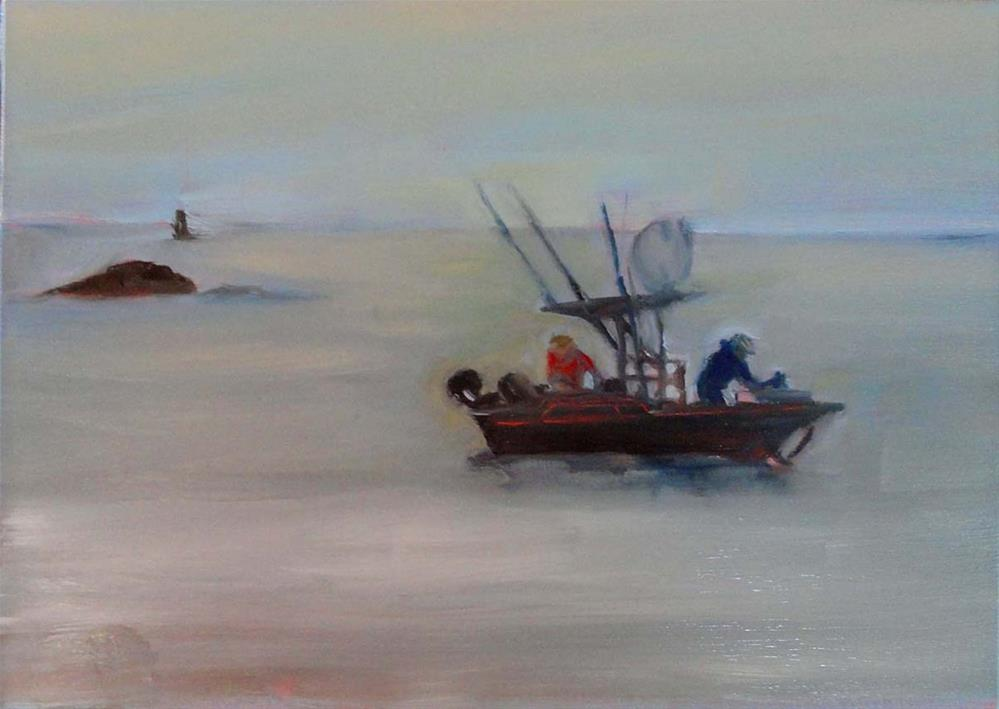 """Calm Seas"" original fine art by Cietha Wilson"