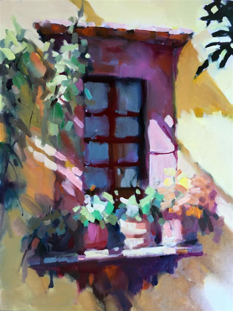 """Courtyard Window"" original fine art by Trisha Adams"