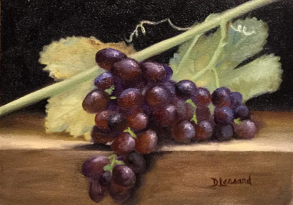 """Grapes #1627"" original fine art by Dee Lessard"