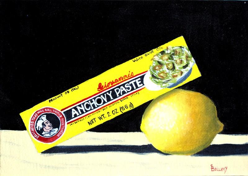 """Anchovys with Lemon"" original fine art by Sherry Bellamy"