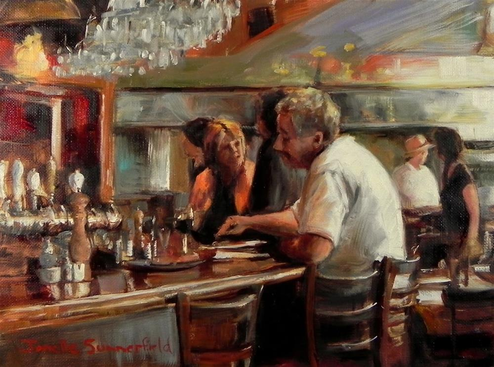 """The Diner"" original fine art by Jonelle Summerfield"