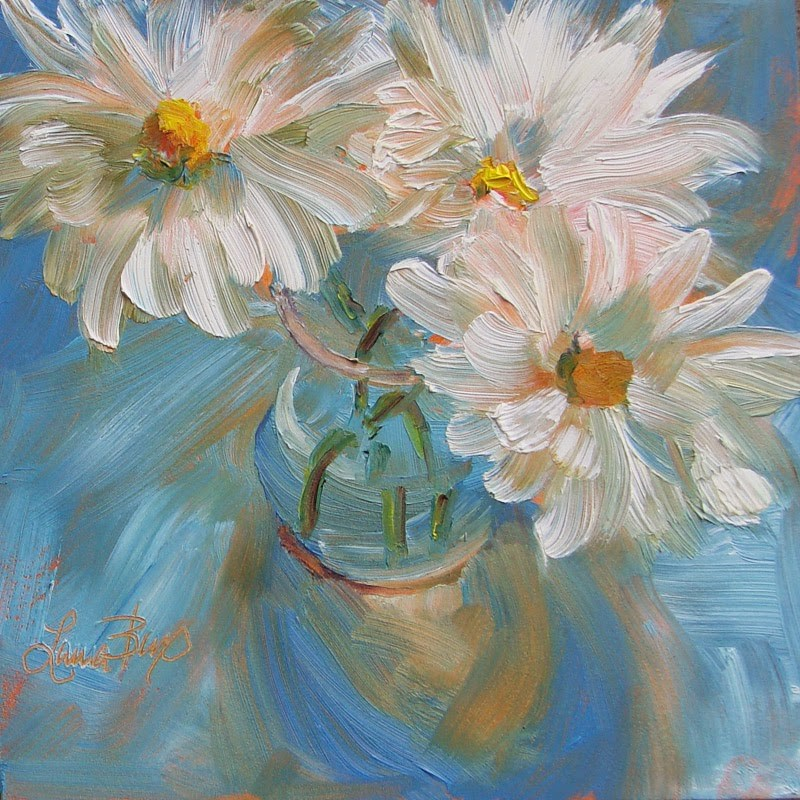 """Happy Flowers"" original fine art by Laura  Buxo"