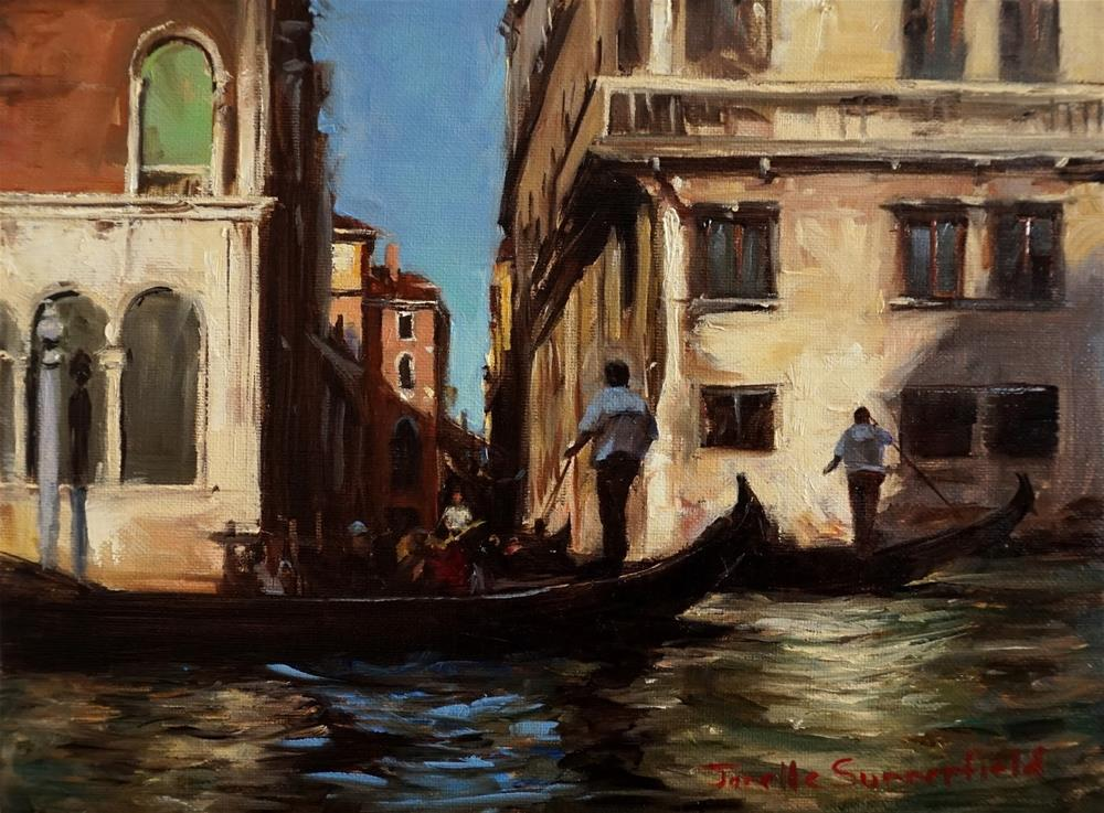 """Venetian Traffic Jam"" original fine art by Jonelle Summerfield"