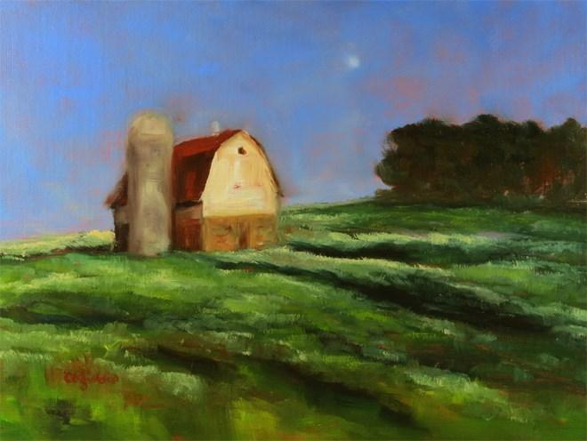 """Barn on the Hill"" original fine art by Carol Zirkle"