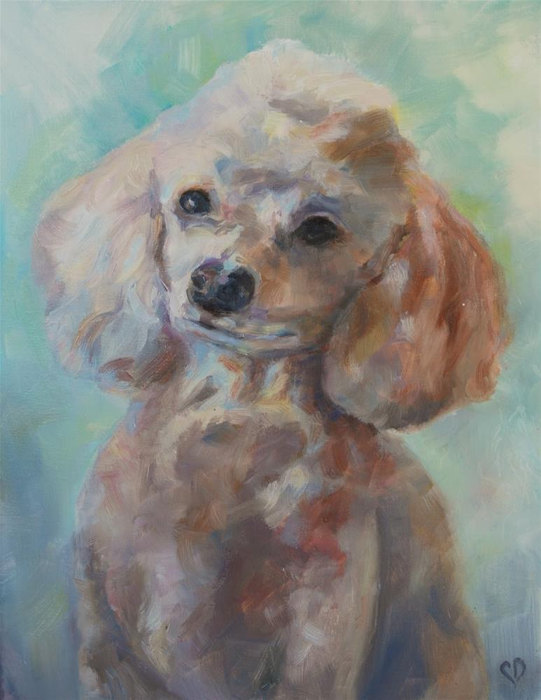 """Poodle Portrait, Original oil by Carol DeMumbrum"" original fine art by Carol DeMumbrum"