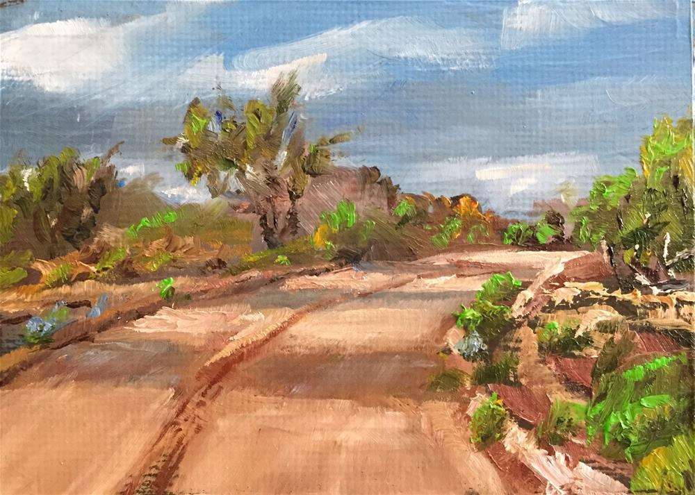 """Desert Road"" original fine art by Gary Bruton"