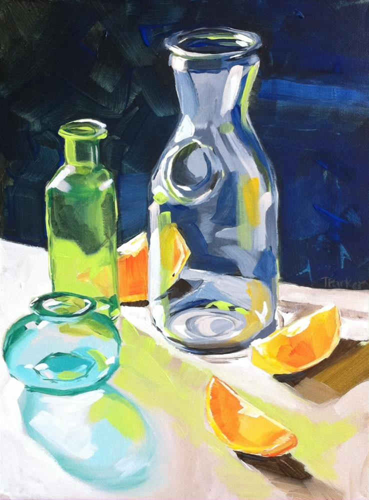 """Citrus Shadows"" original fine art by Teddi Parker"
