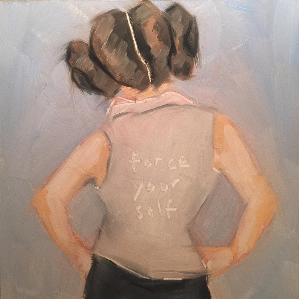 """448 Force Yourself"" original fine art by Jenny Doh"