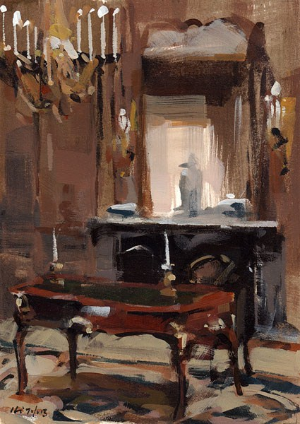 """A Regal Desk - Quick Study"" original fine art by David Lloyd"