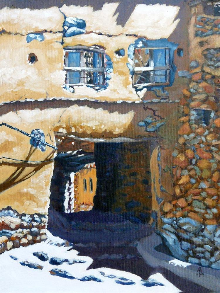 """Ruined gateway, Jebel Akhdar, Oman"" original fine art by Alix Baker"