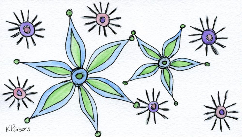 """Starlike"" original fine art by Kali Parsons"