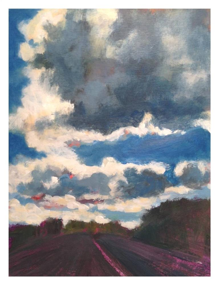 """Cloud Drama"" original fine art by Suzanne Woodward"