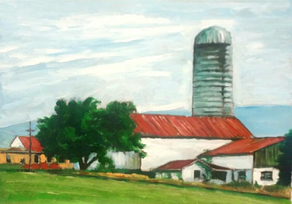 """The Farn (9 x 12 oil on canvas sheet - no frame)"" original fine art by Ramon DelRosario"